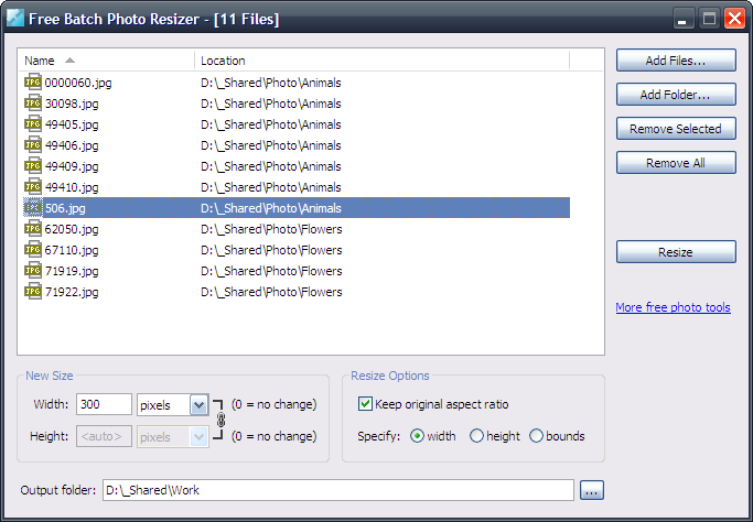 Free Batch Photo Resizer (Portable) 2.3.0.1200 full