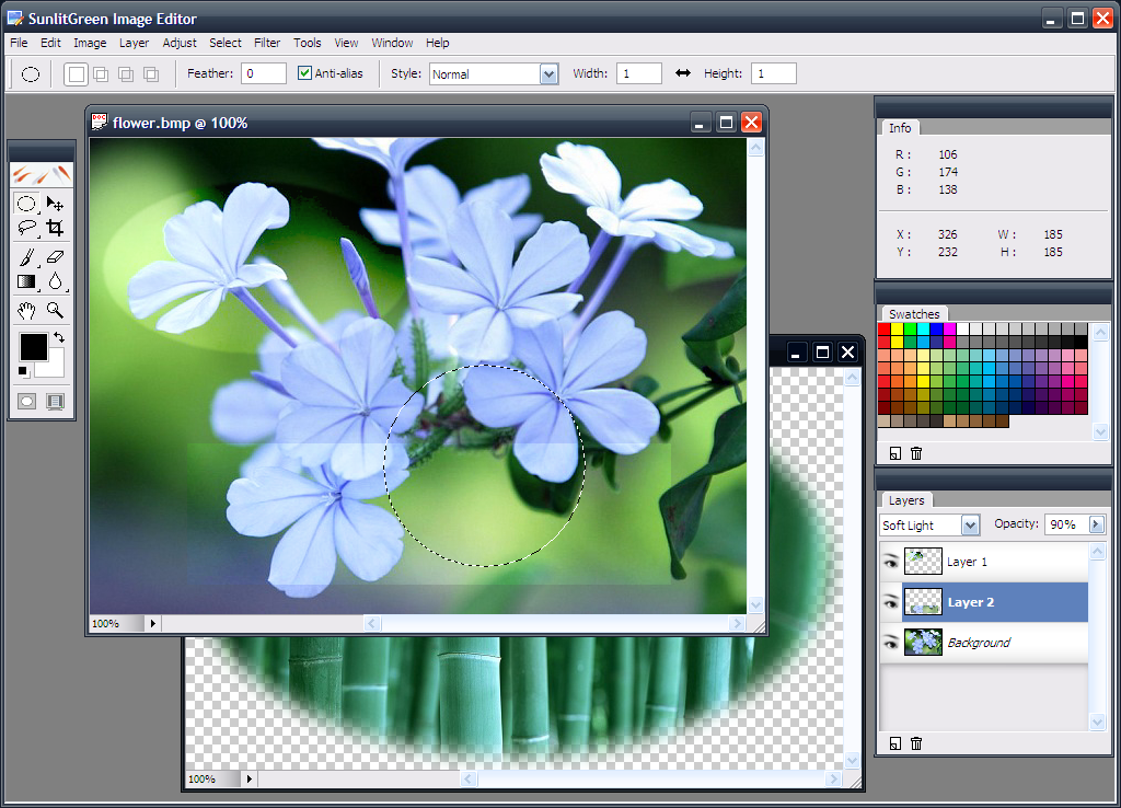 Sunlitgreen photo editor free digital photo editing software Free photo software